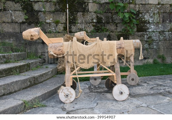 medieval toy horses
