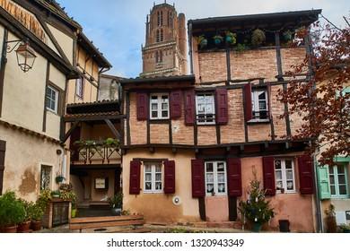 The medieval village of Albi, France