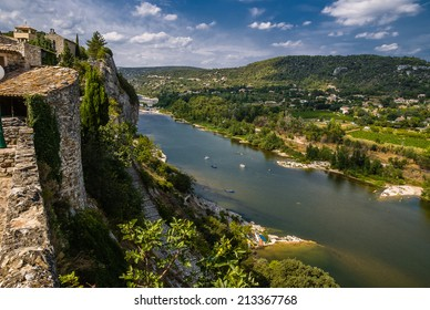 The medieval village of Aigu�¨ze Alongside the canyon of the Ardeche river in France