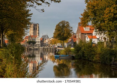 Medieval village at autumn