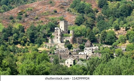 Medieval village of Belcastel, Aveyron, France