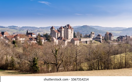 Medieval village of Curemonte in New Aquitaine, France