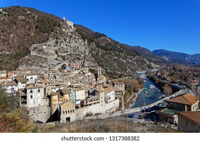 The medieval village of Entrevaux in south of France