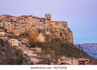 medieval village of frias at bugos province, spain
