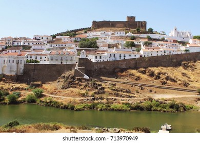 Medieval village of Mertola with castle ruin, Portugal