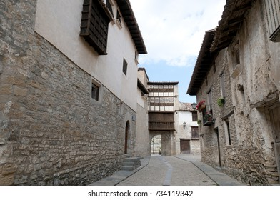 Medieval village of Mirambel in the Maestrazgo, Teruel, Spain