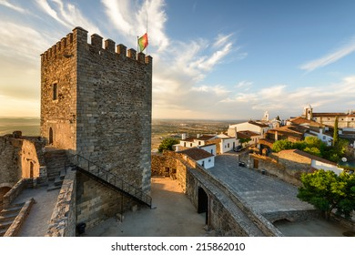 The medieval village of Monsaraz is a tourist attraction in the Alentejo, Portugal. From the walls of his castle we can contemplate an amazing panoramic view of the plains and the Alqueva Lake.