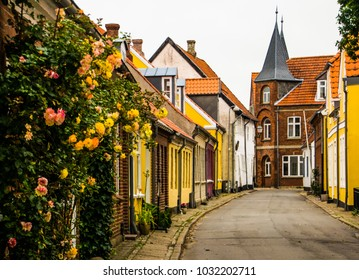 the medieval village of Ribe in Denmark