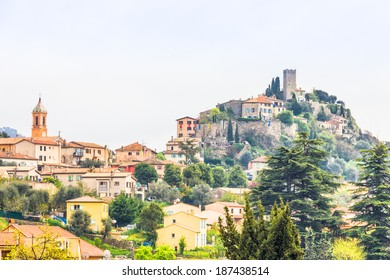 The medieval village of Tourrette-Levens, South of France
