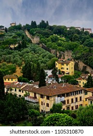 The medieval wall, built around the city of Florence, has been built six times to protect the city.