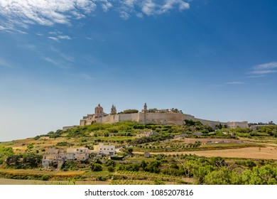 The medieval walled city of Mdina in Malta
