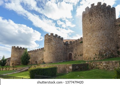 Medieval walls of Plasencia, walled market city in the province of Caceres, Spain