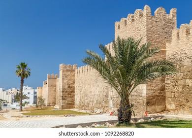 Medieval walls of Sousse medina, Tunisia