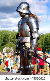 Medieval warrior in body armour