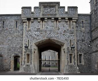 Medieval Windsor Castle in England