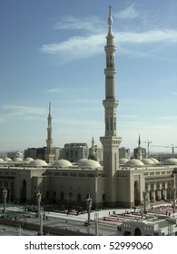 MEDINA, KINGDOM OF SAUDI ARABIA (KSA) - JANUARY 7 : External view of Masjid Nabawi on January 7, 2008 in Medina, KSA. Nabawi Mosque is the second holiest mosque in Islam.