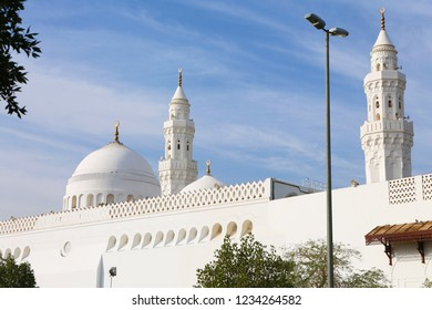 Medina, Kuba Mosque. In Medina, Hz. It is the first white mosque built by Muhammad. Pilgrims visit the mosque during the Hajj and Umrah period. Saudi Arabia, Medina. 30 mays 2018