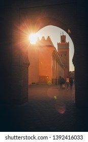 Medina of Marrakesh at sunset. Marrakesh, Marrakesh-Safi, Morocco.