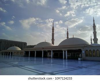 MEDINA, SAUDI ARABIA -5th SEPTEMBER 2017, Interior design upstairs of mosque of the Prophet Muhammad on in Medina, KSA.
