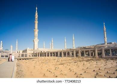 MEDINA, SAUDI ARABIA - December 11, 2017 : Jannat Al-Baqi (Garden Of Baqi) Is A Cemetery In Medina, Saudi Arabia, Located To The Southeast Of The Masjid Al-Nabawi (The Prophet's Mosque)