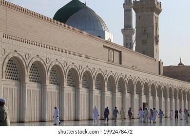 MEDINA, SAUDI ARABIA - OCTOBER 23th, 2019 - masjid nabawi in medina