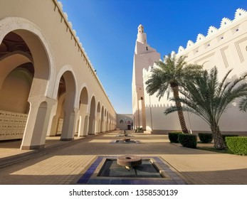 MEDINA, SAUDI ARABIA- September 6, 2017: Miqat Bir Ali mosque (Dhul Hulaifah) in Medina. Miqat Bir Ali is a place and time for Ihram for pilgrims