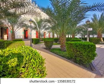 MEDINA, SAUDI ARABIA- September 6, 2017: Miqat Bir Ali mosque (Dhul Hulaifah) in Medina. Miqat Bir Ali is a place and time for Ihram for pilgrims