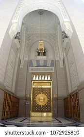 MEDINA SAUDI ARABIA-April 7 2017 One of the doors made of & Door Of Masjid Images Stock Photos \u0026 Vectors | Shutterstock