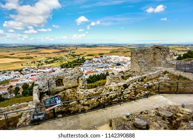 Medina-Sidonia, Spain, June 09, 2018: Castle ruins of Medina-Sidonia.