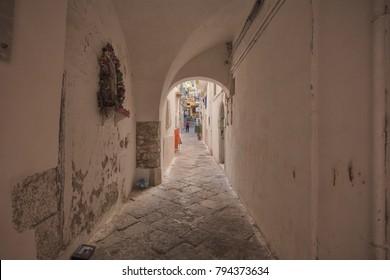 a medioval alley in Gaeta