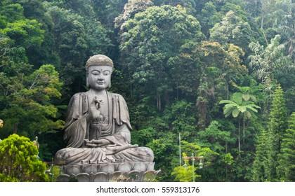 Meditating buddha in Genting highland feeling peace