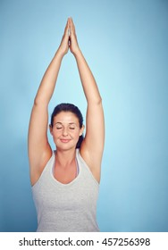 Meditating Yoga Woman In Prayer Position