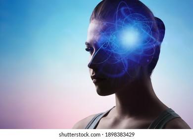 Meditating young woman concept. Meditation. Mindfulness.