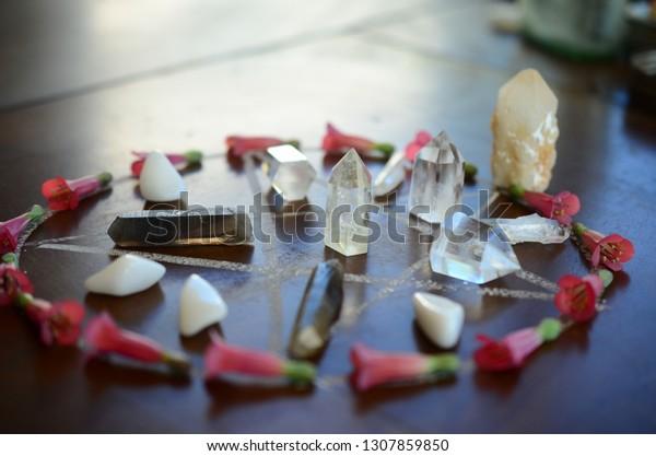 Meditation Grid Kit Quartz Tower Natural Stock Photo (Edit