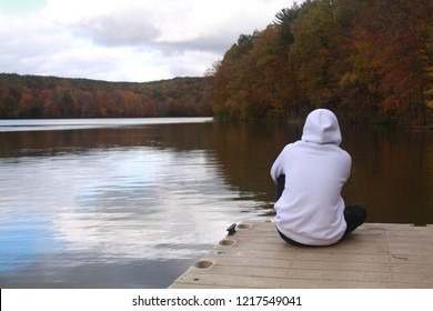 meditation on the lake