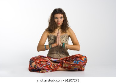 meditation of yoga girl