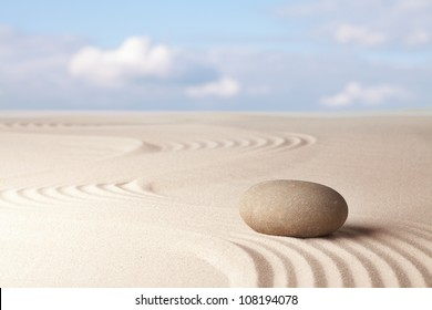 Meditation zen garden harmony relaxation and balance concentration as a ritual in Japanese culture