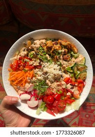 mediterran food  in a poke bowl