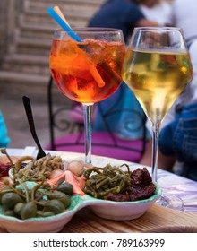 mediterranean aperitif in apulia, Italy