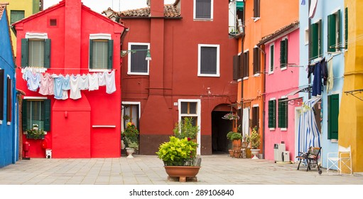 Mediterranean architecture in Burano, Italy