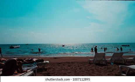 Mediterranean Beach in Europ