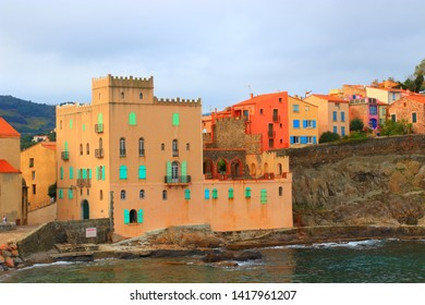 Mediterranean city of Collioure in eastern pyrenean, Roussillon in the South of France