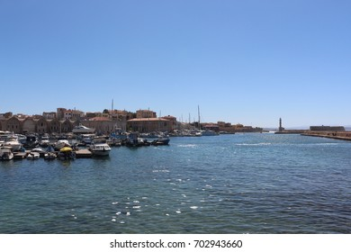 mediterranean city from the port