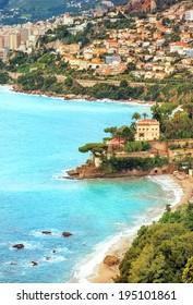Mediterranean coast by Monaco, France