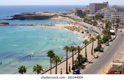 Mediterranean coast in Monastir, Tunisia in Africa