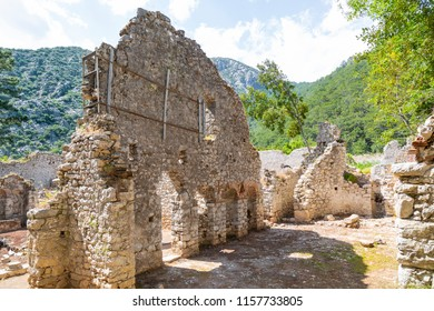 The Mediterranean coast ruins of Olympos ancient has a marvelous collection of ancient ruins dotted along its jagged coastline in Kumluca. Adrasan-Turkey