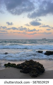 Mediterranean coast in southern Israel near the city of Ashkelon