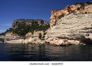 Mediterranean coast in summer day.