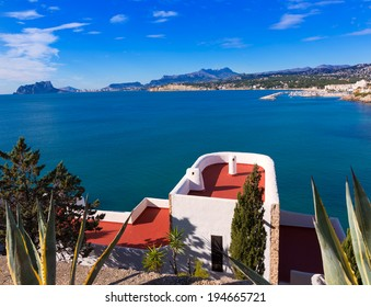 Mediterranean houses in Moraira Teulada at Alicante with Calpe Penon Ifach view