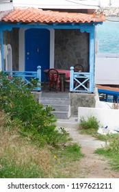 mediterranean hut near the port of Sisi on Crete in Greece